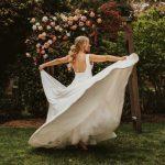 Low ponytail upstyle bridal hair